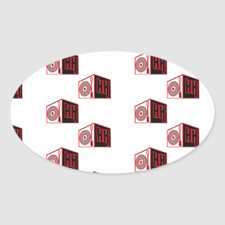 El logotipo 2 de HIP HOP Pegatina Ovalada