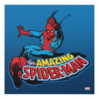 El logotipo asombroso de Spider-Man Cuadro