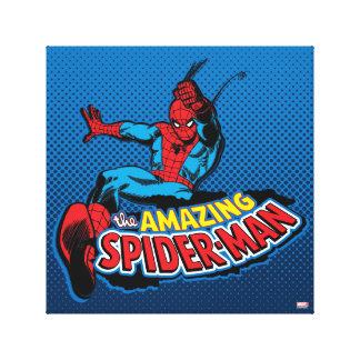 El logotipo asombroso de Spider-Man Impresión En Lienzo