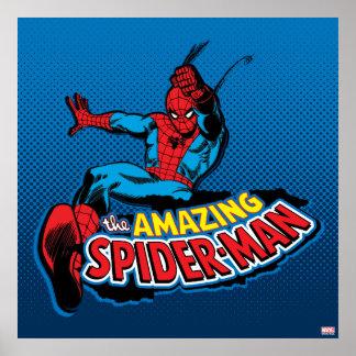 El logotipo asombroso de Spider-Man Póster