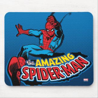 El logotipo asombroso de Spider-Man Tapetes De Ratones