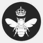 ¿El logotipo blanco de la abeja reina… es usted un Pegatinas