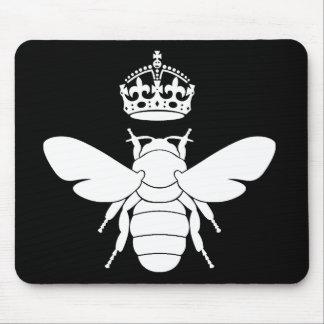 ¿El logotipo blanco de la abeja reina… es usted un Alfombrillas De Ratón