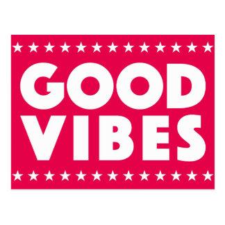 El logotipo blanco grande del texto de la buena tarjetas postales