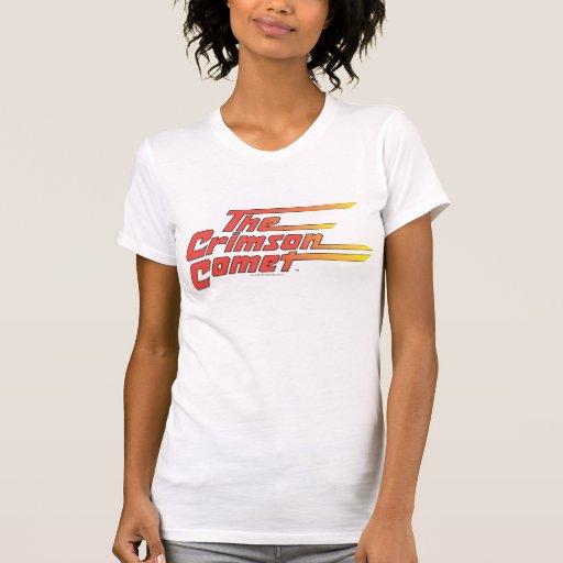 El logotipo carmesí del cometa camiseta