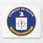 """El logotipo Cia """"Cristo está vivo """" Alfombrilla De Raton"""