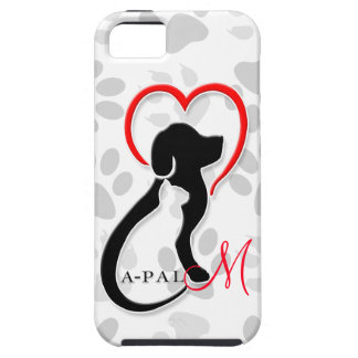 El logotipo de A-PAL con la pata imprime la caja iPhone 5 Carcasa