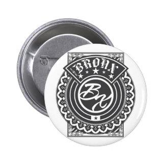 El logotipo de Bronx Pin Redondo 5 Cm