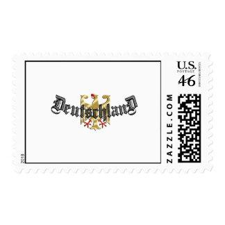 El logotipo de Deutschland Eagle junta con te y pr Franqueo