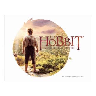 El logotipo de Hobbit con la parte posterior de Tarjetas Postales