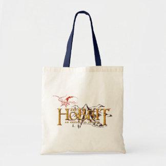 El logotipo de Hobbit sobre las montañas Bolsa Tela Barata