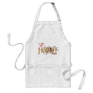 El logotipo de Hobbit sobre las montañas Delantales