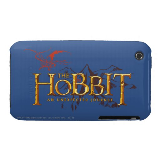 El logotipo de Hobbit sobre las montañas iPhone 3 Case-Mate Protector