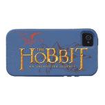 El logotipo de Hobbit sobre las montañas Vibe iPhone 4 Carcasas