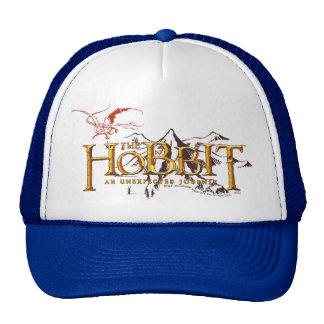 El logotipo de Hobbit sobre las montañas Gorro