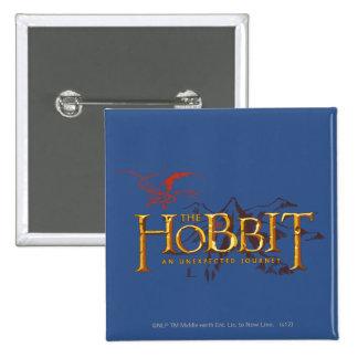El logotipo de Hobbit sobre las montañas Pin