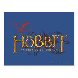 El logotipo de Hobbit sobre las montañas Tarjetas Postales