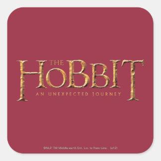 El logotipo de Hobbit texturizado Pegatinas Cuadradas Personalizadas