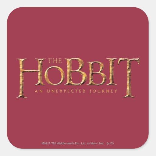 El logotipo de Hobbit texturizado Pegatina Cuadrada