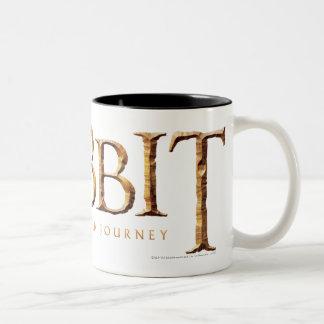 El logotipo de Hobbit texturizado Taza De Dos Tonos