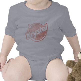 El logotipo de Krystal se descoloró Trajes De Bebé