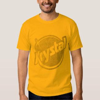 El logotipo de Krystal se descoloró Polera