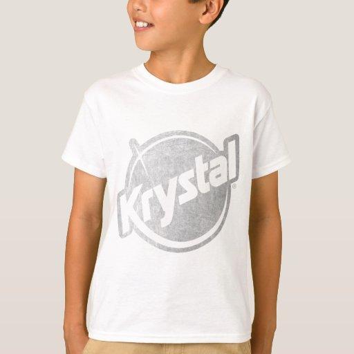El logotipo de Krystal se descoloró Remera