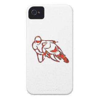 El logotipo de la motocicleta que se inclina en ro iPhone 4 Case-Mate cobertura