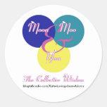 El logotipo de la sabiduría colectiva etiquetas redondas