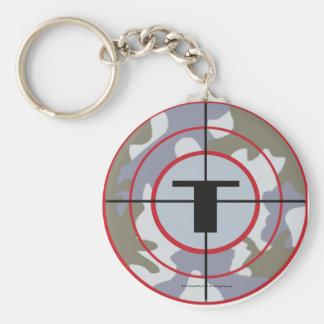El logotipo de la tribu de Techno Llavero Redondo Tipo Pin