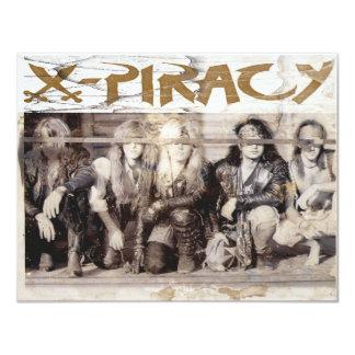 El logotipo de la X-Piratería observa jpg. Invitacion Personal