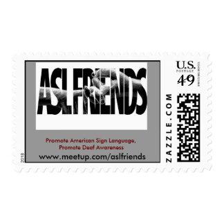 El LOGOTIPO de los AMIGOS del ASL, promueve la Sellos Postales