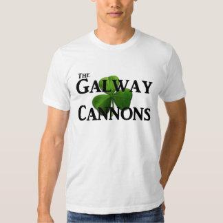 El logotipo de los cañones de Galway Playera