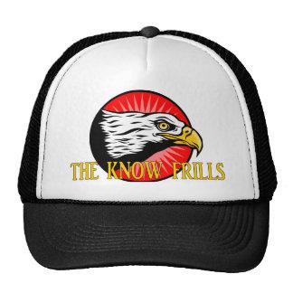 El logotipo de los volantes de la saber gorras