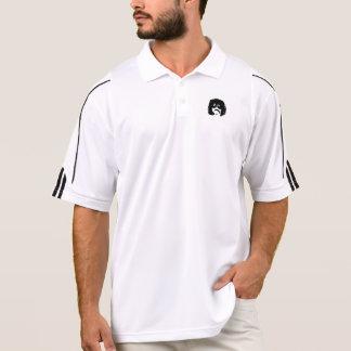 El logotipo de piedra Adidas del equipo golf polo