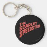 El logotipo de Speedster del escarlata Llavero