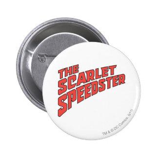 El logotipo de Speedster del escarlata Pins