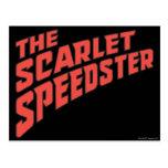 El logotipo de Speedster del escarlata Postal