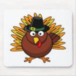 El logotipo de Turquía de la acción de gracias cre Alfombrillas De Ratones
