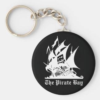 el logotipo del barco pirata de la bahía del pirat llaveros personalizados