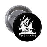 el logotipo del barco pirata de la bahía del pirat pins