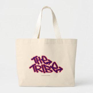 El logotipo del funcionario de la tribu bolsa tela grande