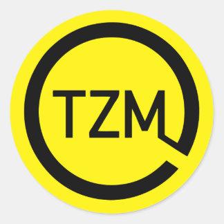 El logotipo del movimiento del espíritu de la pegatina redonda