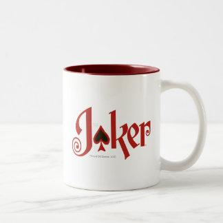 El logotipo del naipe del comodín taza de café