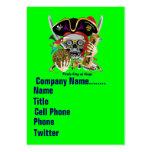 El logotipo dual del carnaval ve por favor notas plantillas de tarjeta de negocio