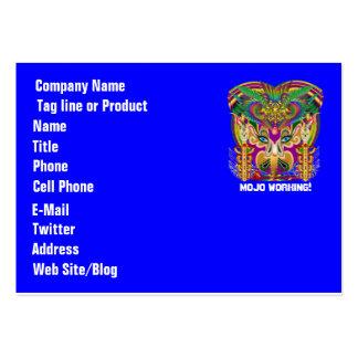 El logotipo dual del tema del fiesta ve por favor plantilla de tarjeta de negocio