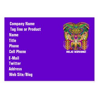 El logotipo dual del tema del fiesta ve por favor plantillas de tarjeta de negocio