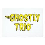 El logotipo fantasmal del trío invitación 12,7 x 17,8 cm