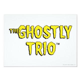 """El logotipo fantasmal del trío invitación 5"""" x 7"""""""