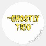 El logotipo fantasmal del trío pegatina redonda